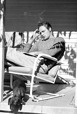 Marlon Brando photographed by Edward Clark, 1949.