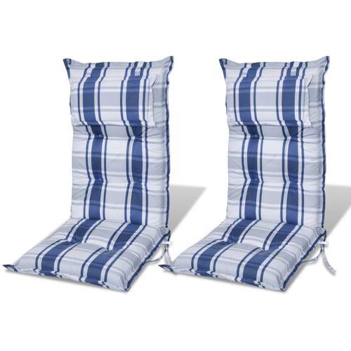 2x cuscino per sedia da giardino blu spessore 3999 - Prezzo