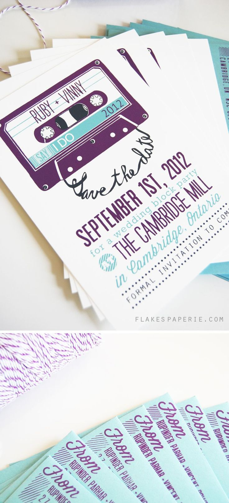 Mixtape save the date - best hipster wedding invitation ever?