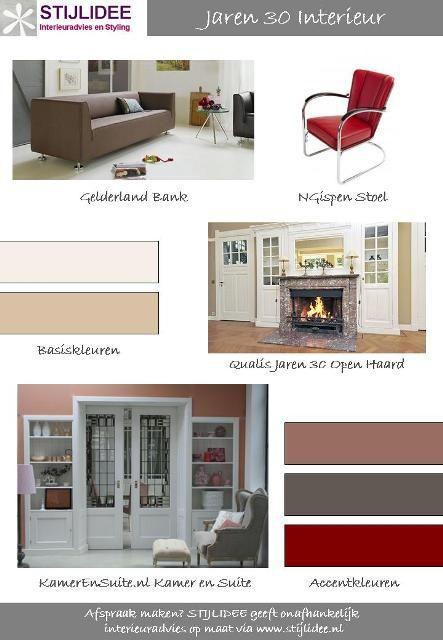 Moodboard jaren 30 interieur by stijlidee interieuradvies for Jaren 30 interieur