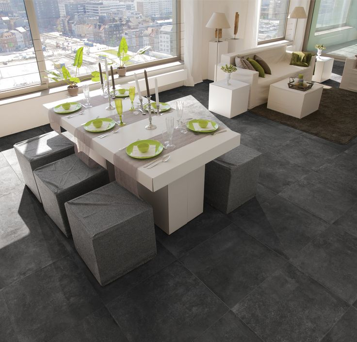 16 best images about betonlook tegels on pinterest for Table 60x60 design