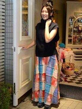 Juana de Arco 表参道|ホアナさんの「マキシ丈スカート(Juana de Arco|ホォアナデアルコ)」を使ったコーディネート
