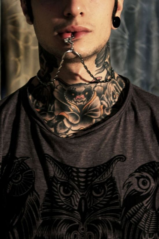 125 best neck tattoos images on pinterest ink neck tattoos and tatoos. Black Bedroom Furniture Sets. Home Design Ideas