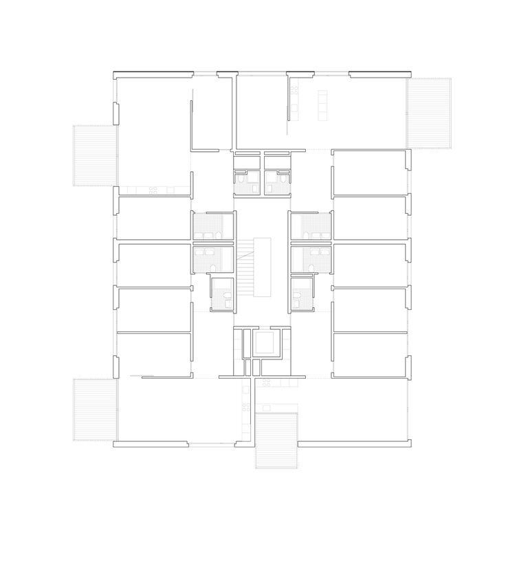 Grundriss Obergeschoss   pool Architekten Zürich