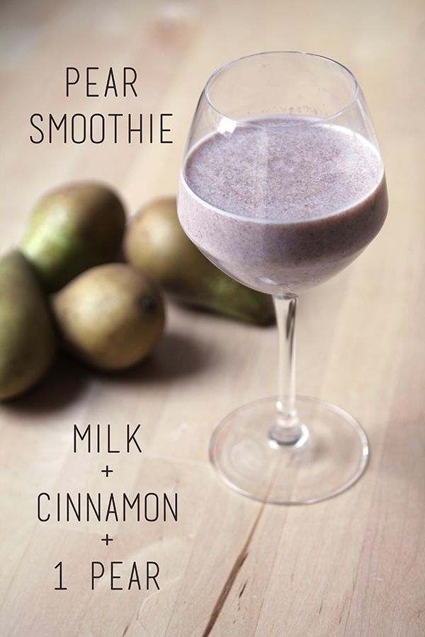 Pear and Cinnamon Smoothie
