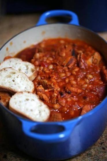 slow-cooker cassoulet
