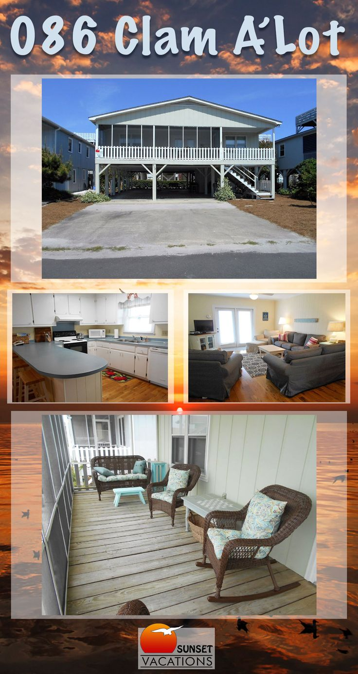 This budget-friendly vacation rental features 4 bedrooms, hardwood floors, awesome deck space and so much more! Book your Sunset Beach vacation today.