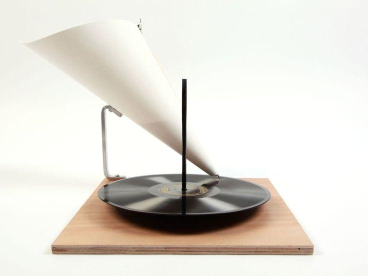 Minimalistisches Grammophon