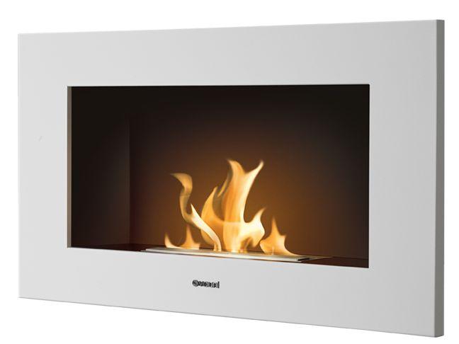 ethanol fireplace edge white