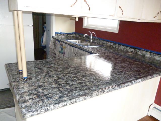 75 best images about countertops on pinterest countertop redo diy butcher block countertops - Diy redo kitchen countertops ...