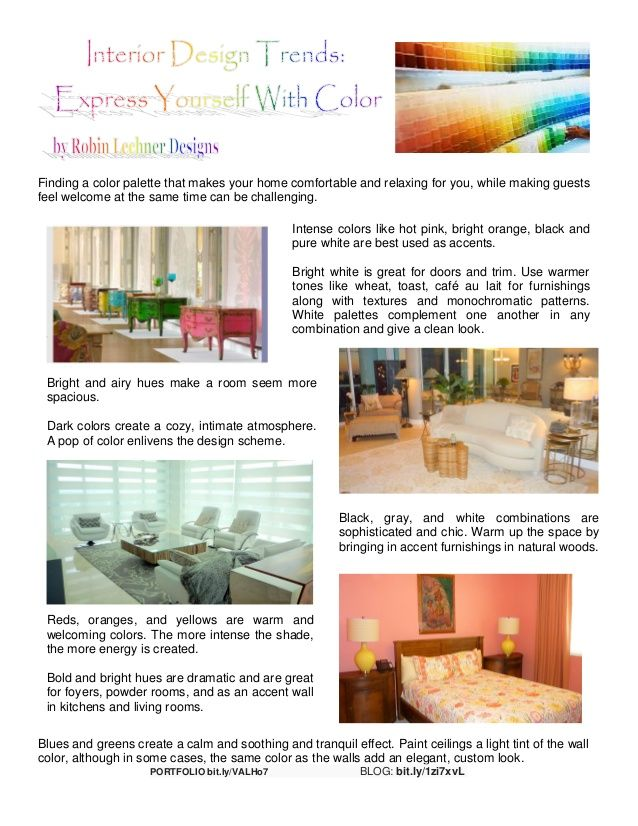 Interior Design Trends Express Yourself With Color Finding A Palette That Makes Your Home