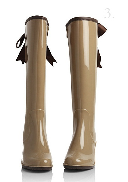 Super adorable rainboots with ribbon bow! <3    http://www.yesstyle.com/en/holly-shoes-bow-accent-rain-boots/info.html/pid.1030775484