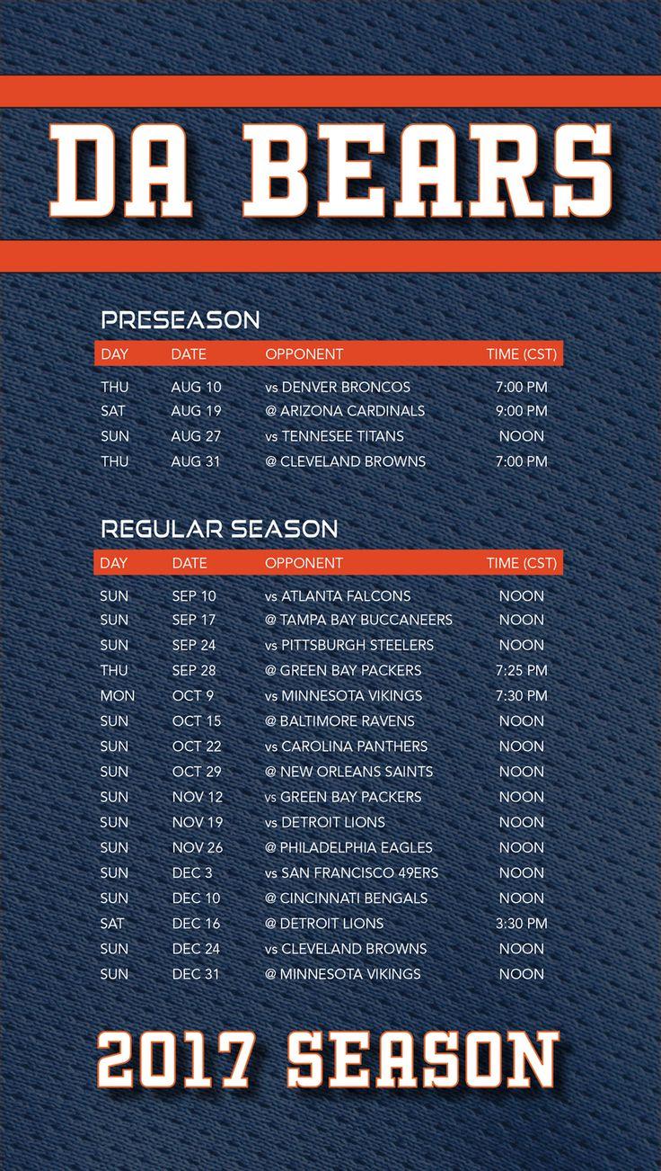 Chicago bears 2017 season schedule