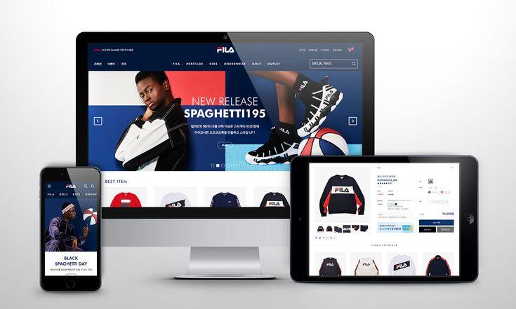 FILA, RESPONSIVE WEB, ONLINE SHOPPING MALL, KOREA, Design by Sina.kim