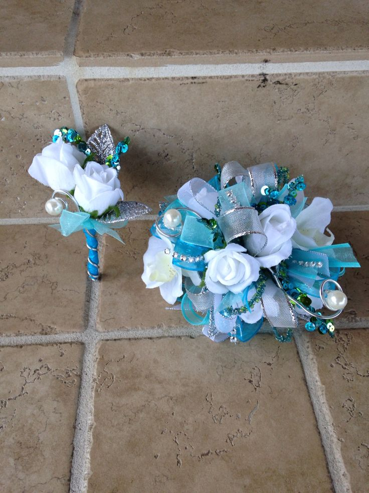 25 Best Ideas About Blue Corsage On Pinterest Prom