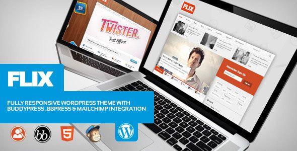 Flix v1.6.3  BuddyPress Ready Team Blogging Free at DLEWordPRess