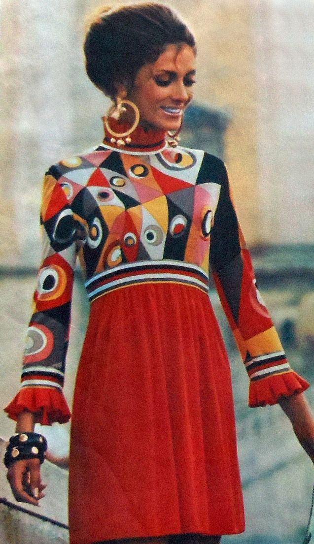Vintage 60s Vogue Couturier Design PUCCI Dress/Gown Sewing Pattern
