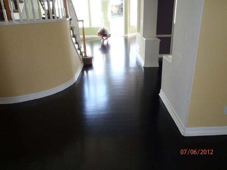 Hard wood floors black stain all city hardwood floors for Hardwood floors denver