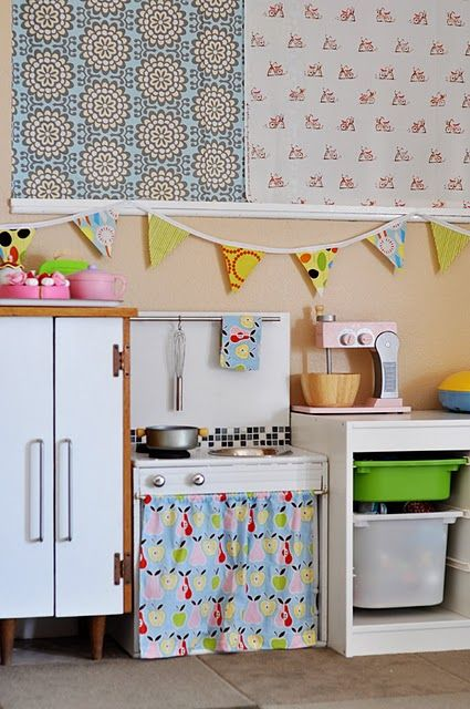 229 best play houses interiors images on pinterest for Playhouse kitchen ideas