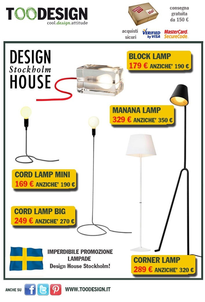 promozioni su www.toodesign.it.  Cerca Design House Stockholm e scopri le novità in offerta!