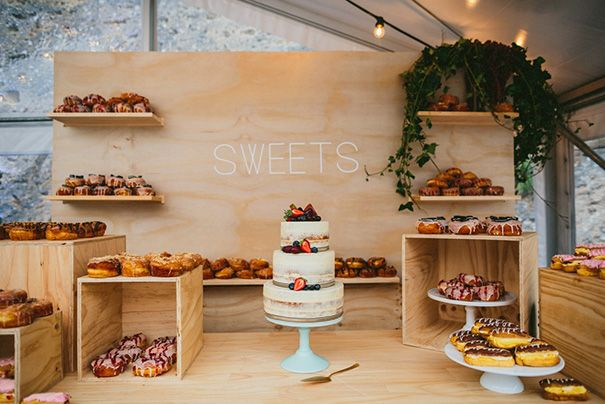 Sweets Bar! (The donuts, right corner, look to die for) // Photography: Through the Woods We Ran