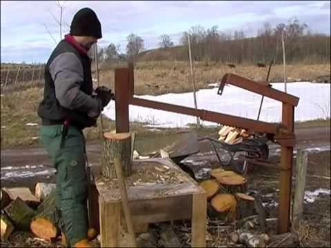 """Дровокол механический """"Лесобур"""" - YouTube"""