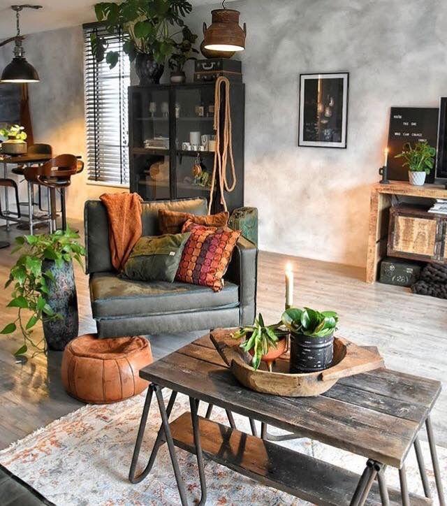 Industrial Rustic Vibe Living Room Decor Colors Rustic Living Room