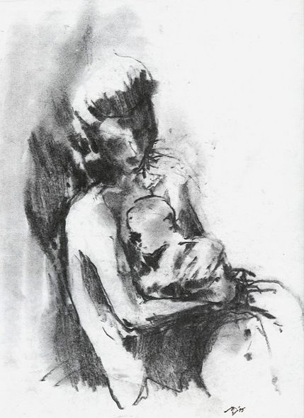 Marek Drtoździel, 20x30 cm, charcoal on paper