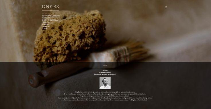 """Dankers is een familie van artisanale schilders. De naam """"Dankers"""" staat al eeuwen gelijk aan professionele schilderwerken dankzij hun passie en vakmanschap. De website is ontworpen in een minimalistische stijl, overzichtelijk en met sprekende beelden. De website is zodanig opgebouwd dat Dankers die zelf kan updaten. #minimalistisch #webdesign #dankers"""