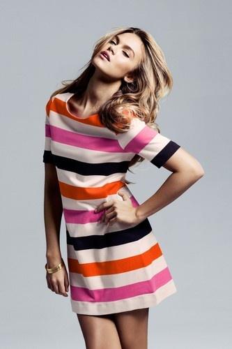 New Women European Style Fashion Stripes Sleeveless Dress B085 $18