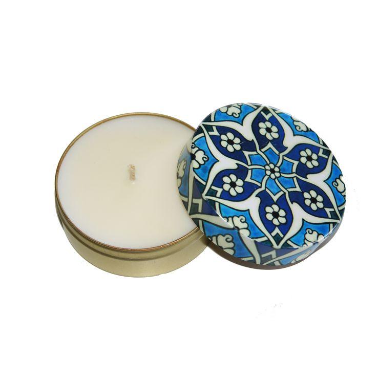 Turkish Tin Soy Candle - Indigos Market