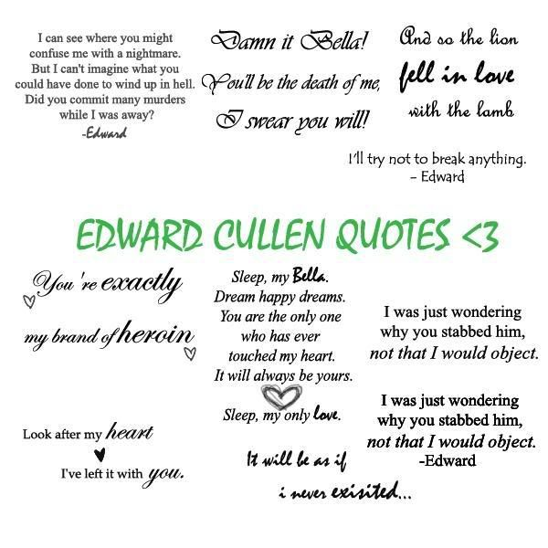 Image detail for -Twilight :: Edward Cullen Quotes picture by bellablack88 - Photobucket