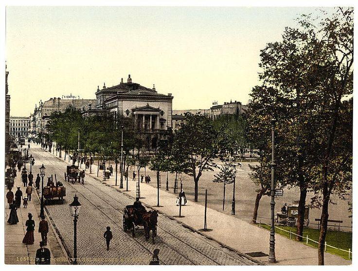 Poznań (Poland) -Wilhelmsplatz - obecnie Plac Wolności, ok 1900 ( fot. Library of Congress Photochrome Collection/Photoglob AG, Zürich, Switzerland or Detroit Publishing Company, Detroit, Michigan)