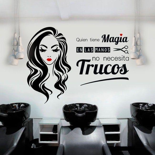 Vinilos salones de belleza y peluquerías quien tiene magia ...