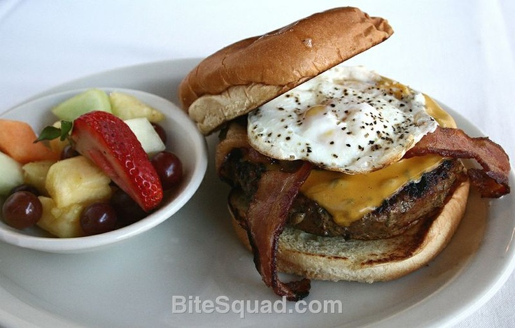 Rock Bottom's 2AM Burger is SO TASTY it will take a bite out of you! Delivered by bitesquad.com #Minneapolis $10.95