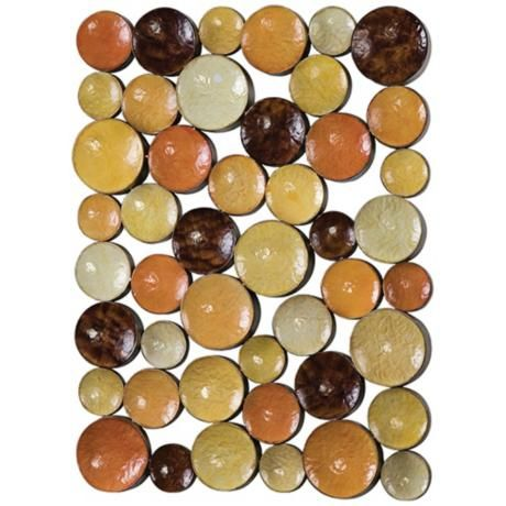 """Uttermost Amadeo 40"""" High Concave Metal Wall Art -"""