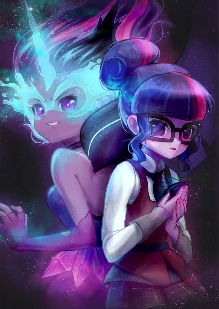 Midnight sparkle,Twilight sparkle