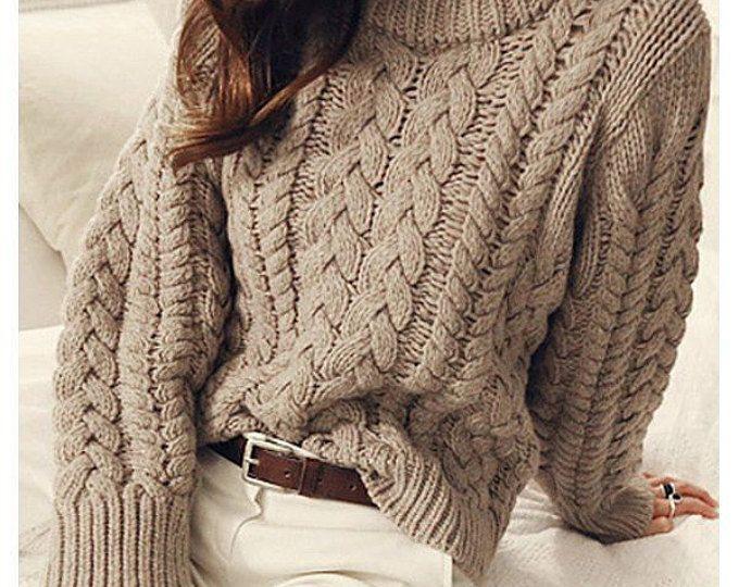 Mano suéter de las mujeres cuello redondo de punto hecha a mano de la orden  punto suéter cardigan suéter de mujer ropa de cuello con cuello en v c986c23e4913