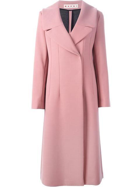 manteau long à larges revers