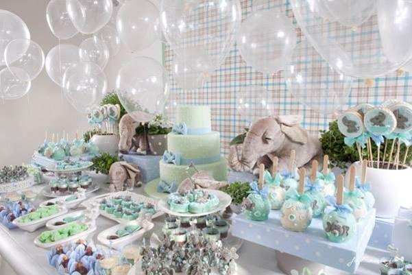 chá de bebê verde e azul - Pesquisa Google