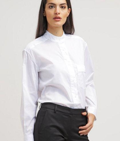Equipment MAGDALENA Bluzka biała koszulowa white