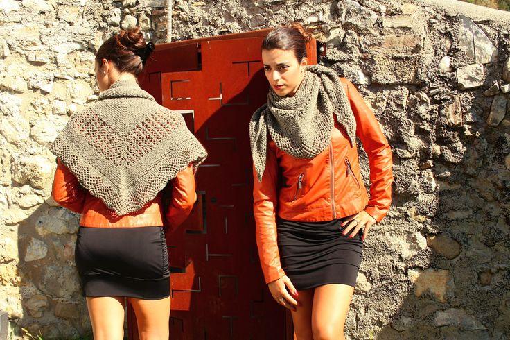 100% wool shawl. #Handmade #knitwear #contemporary #tradition
