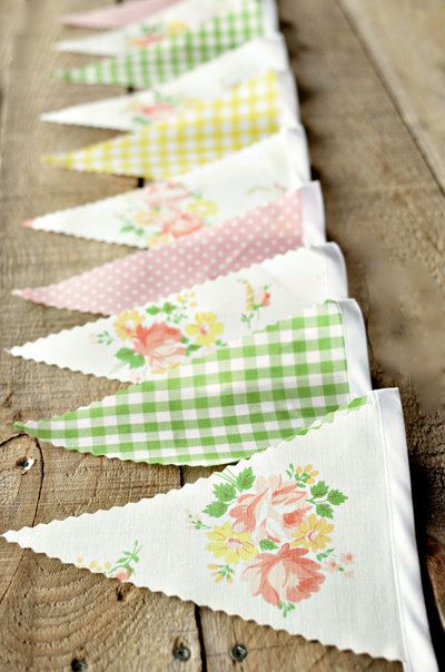 This bunting would be perfect for an outdoor summer bridal shower tea party