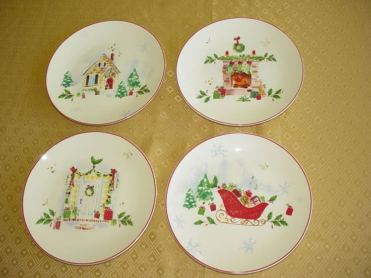 103 best CHRISTMAS PLATES images on Pinterest | Christmas plates ...