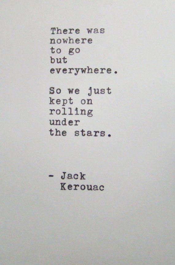 Citaten Schrijven Free : Matted typewriter quote jack kerouac ready to frame on acid free