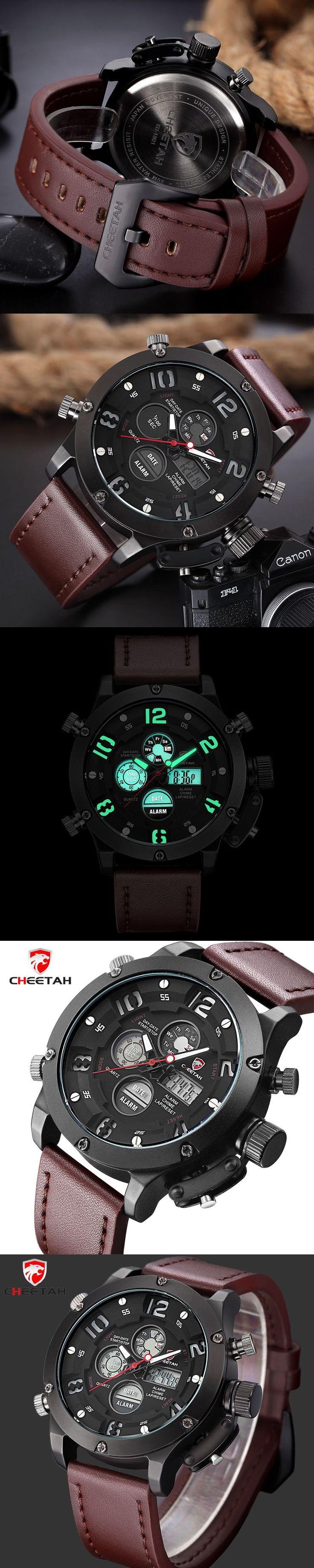 CHEETAH New Top Luxury Brand Men Sports Watches Men's Quartz Analog Led Clock Man Leather Army Military Wrist Watch #menswatchesmilitary