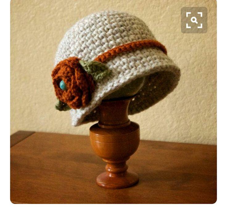 19 besten Häkelspaß - Hüte & Hauben Bilder auf Pinterest | Damenhüte ...