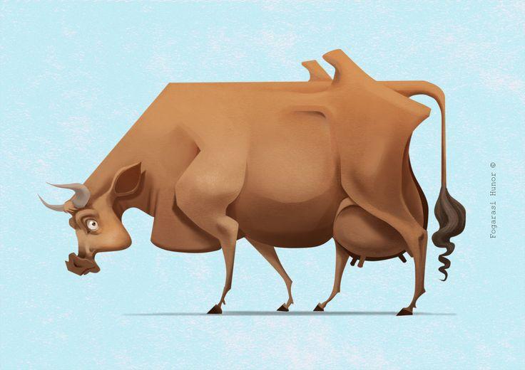 New Cow, Hunor Fogarasi on ArtStation at https://www.artstation.com/artwork/8BvVE