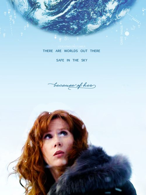 Donna Noble. There are worlds out there safe in the sky because of her. #DoctorWho