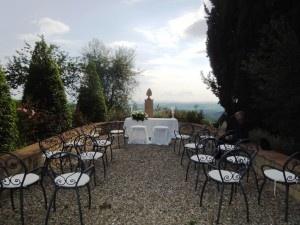 Wedding in Tuscany on Belvedere of Fattoria del Colle